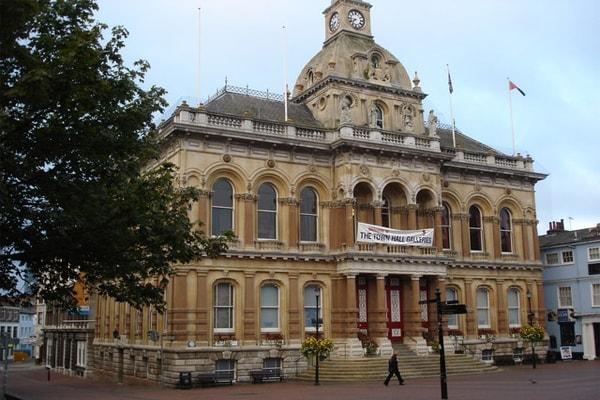 Ipswich Town Hall in Ipswich